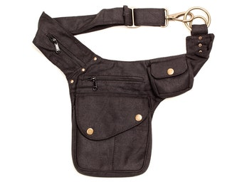 Canvas Side Bag , Bumbag, Pocket Belt, Money Belt, Festival Outfit, Utility Belt, Vegan Bag, Belt Bag, Fanny Pack