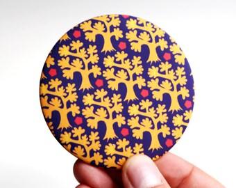 Pocket mirror - yellow tree