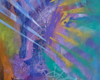 ORIGINAL Abstract Painting. Title: Breaking Through to the Spirit World