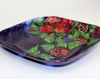 Kilnformed Garden Plate