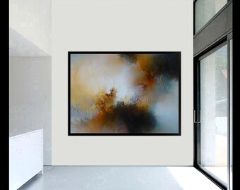 Stunning, large, abstract painting by artist Simon Kenny 'What Shall Be'
