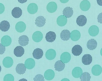 Color Theory--Dots in Teal---1 yard--V and Co for Moda Fabrics