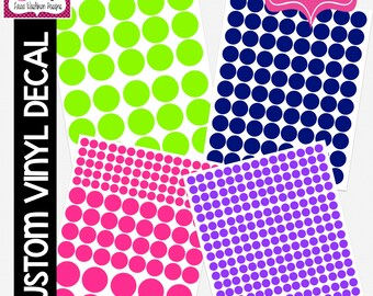 VINYL DECAL: DIY Polkadot Stickers, Polkadot Decals
