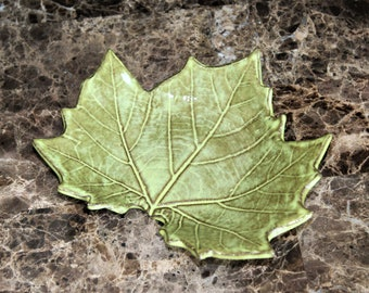 Maple Leaf Dish - Pottery - Spoon Rest - Candle Holder - Jewelry Dish - Catchall Dish - Handcrafted Stoneware - Gift for Her - Gift for Him