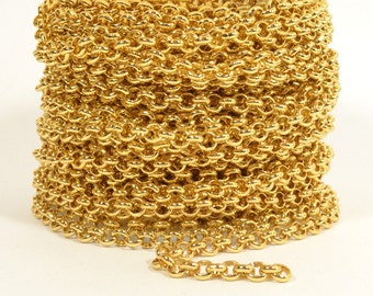5ft - 18K Gold Plated Rolo Chain - 4.8mm Gold Plated - CH80-18K-Gp
