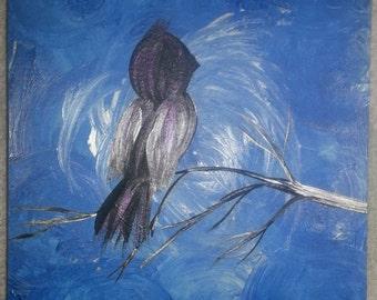 Lonely bird in blue