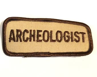 Free Shipping! Archeologist Cloth Patch