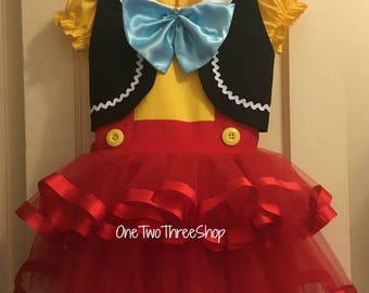 Pinocchio  Custom Boutique Clothing  Sassy Girl Story Time Book Bedtime book Costume dressup