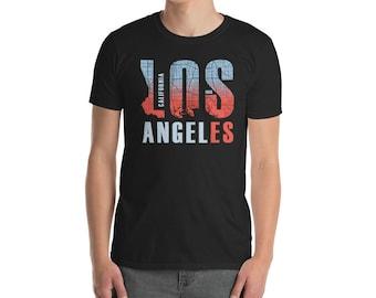 Los Angeles California Retro Vintage Surf Tee Shirt