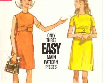 Butterick 5312 Misses One Piece Dress Sewing Pattern 38 Bust