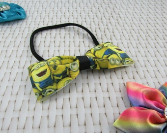 Minion Fabric Bow Headband | Baby / Toddler / Girls | Hair Accessories