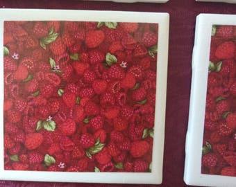 Raspberry Coasters