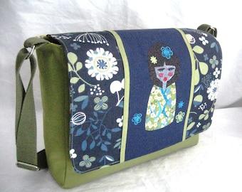 Japanese pattern Messenger bag