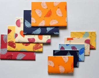 Quaderni rilegati a mano, con pattern stampati con timbri di patate