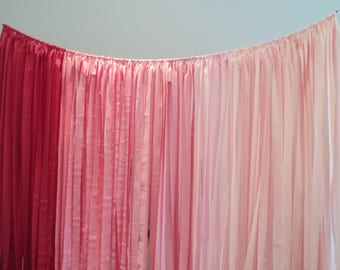 Ombre Fabric Garland Hippie Curtain Boho Wedding Decor Long Backdrop Photo Booth Decor Ombre Tassle Garland Choose Your Primary Color