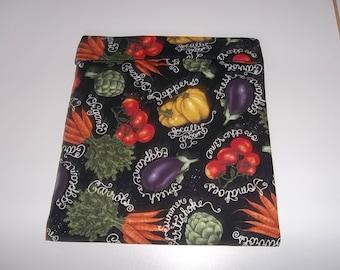 Microwave, Potato Bag, Mixed Vegetables 2, Potato Sack, Microwave Potato Bag, Kitchen Utensil, Handmade, ALL Cotton, Kitchen Gadget, Gift