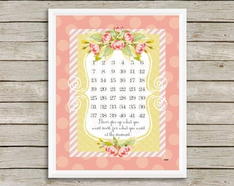 DIGITAL FILE, Weight Loss Countdown Chart, Printable, Goals, Progress, New Years Resolutions