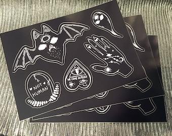 Halloween Creepy Cute Sticker Sheet