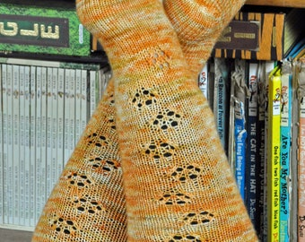 My Cat Walks All Over Me sock knitting pattern - instant download