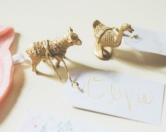 Gold Animal Place Card