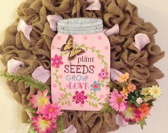 Love Grows Spring Wreath