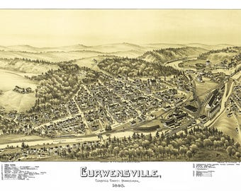 Curwensville Clearfield County Map