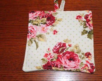 Victorian Rose Potholder