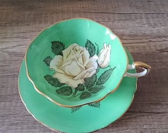Paragon White Rose in Green cup