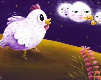 Clora de Chicken. Illustration. Fine Art Print.