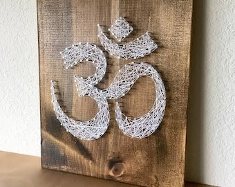 Om String Art, Om Wall Art, Om Art, Om Sign, Om Symbol, Yoga Art, Yoga Sign, Yoga Decor, Yoga Teacher, Yoga Studio