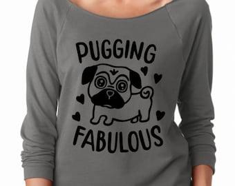 Pug shirt, funny animal shirt, dog shirt, dog mom shirt, funny dog shirt, animal lover shirt, adopt don't shop, rescue animal shirt