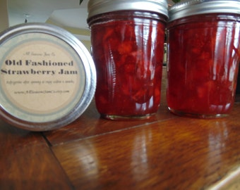 Old Fashioned Strawberry Jam        gifts, wedding favors,  jelly