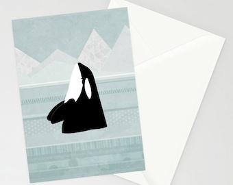 Orca A6 Greetings Card