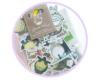 Diary Scrapbook Sticker Label Seal Pack Totoro (38 stickers)