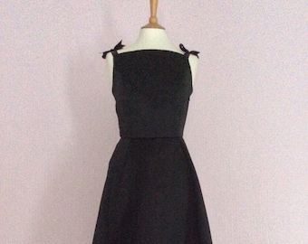 Vintage made to order black Audrey Hepburn dress