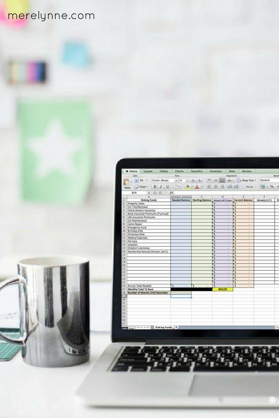 savings tracker spreadsheet