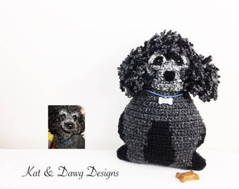 Custom French Poodle, Custom Dog Pillow, Pet Portrait Pillow, Personalized Dog Gift, Pet Memorial, New Pet Owner, Pet Loss Gift