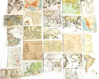 Ancient world map etsy 24 pcs vintage world map sticker retro globe sticker flakes scrapbook antique gothic gumiabroncs Image collections