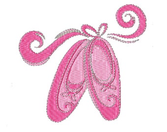 Ballet Slippers- Machine Embroidery Design