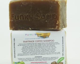 1 piece Fairtrade Coffee Shampoo Bar, 100% Natural Handmade aprox.120g