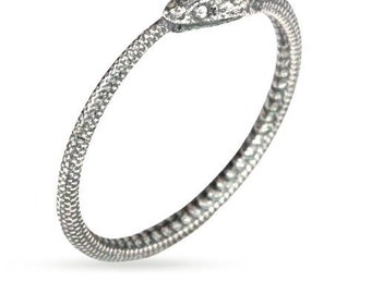 Ouroboros Snake Ring Sterling Silver Size 7  - 1 pc  Wholesale Price (11263)/1