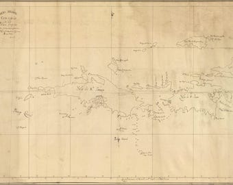 Poster, Many Sizes Available; Map Of British Virgin Islands 1793
