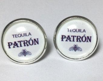 Patron Tequila Earrings Tequila Lover's Jewelry Tequila Earrings