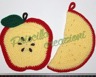Handmade crochet pot holders pair made