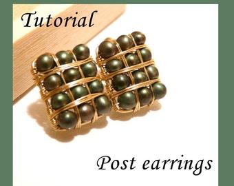 Tutorial - Post Earrings