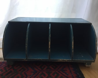 Cute 1960s Painted Wood Letter Sorter