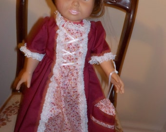 Pioneer-colonial doll dresses
