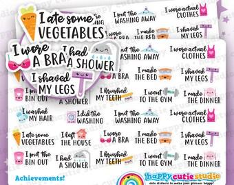 Cute Achievements/Adulting/Winning/Functional/Planner Stickers, Filofax, Erin Condren, Happy Planner, Kawaii, Cute Sticker, UK