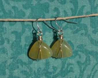 Honey Opal stone earrings