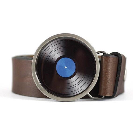 Vinyl Record Belt Buckle Blue Lp Vinyl Belt Buckle Retro